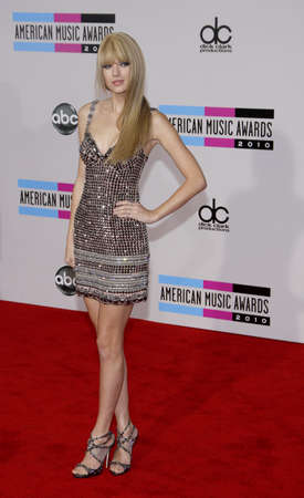 Taylor Swift at the 2010 American Music Awards held at the Nokia Theatre L.A. Live in Los Angeles, USA on November 21, 2010. 写真素材 - 109184712