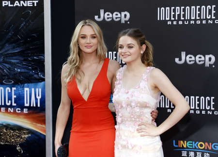 resurgence: Joey King and Hunter King at the Los Angeles premiere of Independence Day: Resurgence held at the TCL Chinese Theatre in Hollywood, USA on June 20, 2016.