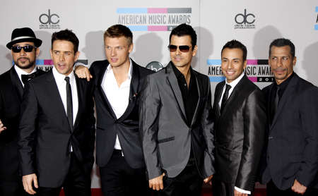 Backstreet Boys and New Kids on the Block at the 2010 American Music Awards held at the Nokia Theatre L.A. Live in Los Angeles, USA on November 21, 2010. Editorial