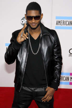 Usher at the 2010 American Music Awards held at the Nokia Theatre L.A. Live in Los Angeles, USA on November 21, 2010.