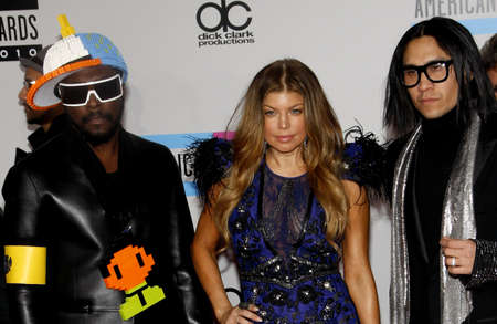 The Black Eyed Peas at the 2010 American Music Awards held at the Nokia Theatre L.A. Live in Los Angeles, USA on November 21, 2010.