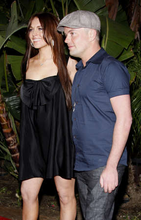Lindsay Lohan and Claus Hjelmbak at the Scandinavian Style Mansion held at the Private Residence in Beverly Hills, California, United States on March 14, 2008.