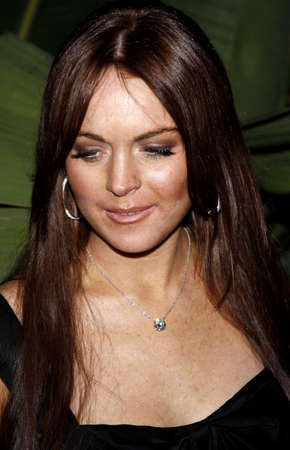 Lindsay Lohan at the Scandinavian Style Mansion held at the Private Residence in Beverly Hills, California, United States on March 14, 2008. Editorial