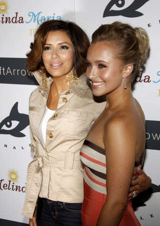 Eva Longoria and Hayden Panettiere at the Whaleman Foundation Benefit   held at the Beso in Hollywood, California, United States on August 10, 2008. Editorial