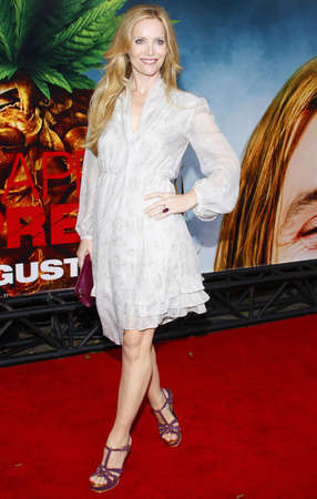 Leslie Mann at the Los Angeles premiere of Pineapple Express held at the Mann Village Theater in Los Angeles, USA on July 31, 2008.