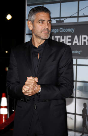 George Clooney at the Los Angeles premiere of Up In The Air held at the Mann Village Theatre in Westwood, USA on November 30, 2009.