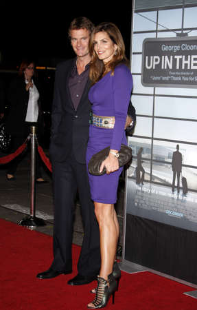mann: Randy Gerber and Cindy Crawford at the Los Angeles premiere of Up In The Air held at the Mann Village Theater in Westwood, USA on November 30, 2009.