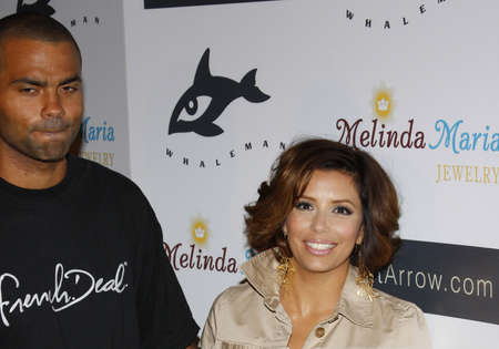 Eva Longoria and Tony Parker at the Whaleman Foundation Benefit held at the Beso in Hollywood, California, United States on August 10, 2008. Editorial