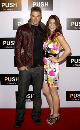mann: Kellen Lutz and Ashley Greene at the Los Angeles premiere of Push held at the Mann Village Theater in Westwood, USA on January 29, 2009.