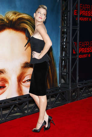 """Amber Heard at the Los Angeles Premiere of """"Pineapple Express"""" held at the Mann Village Theater in Westwood, USA on July 31, 2008."""