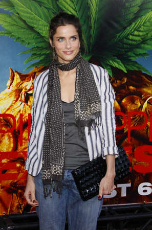 amanda: Amanda Peet at the Los Angeles Premiere of Pineapple Express held at the Mann Village Theater in Westwood, USA on July 31, 2008. Editorial