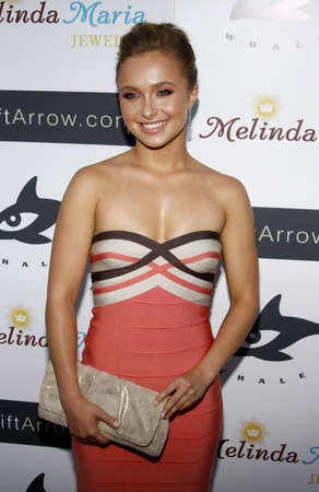 hayden: Hayden Panettiere at the Whaleman Foundation Benefit held at the Beso in Hollywood, USAs on August 10, 2008. Editorial