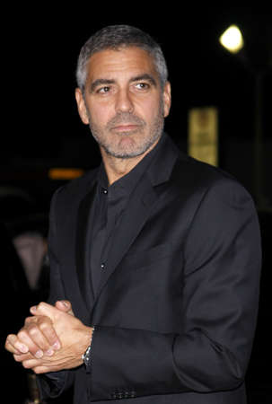 George Clooney at the Los Angeles Premiere of Up In The Air held at the Mann Village Theater in Westwood, USA on November 30, 2009.