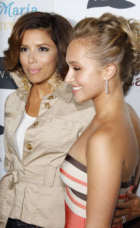 hayden: Eva Longoria and Hayden Panettiere at the Whaleman Foundation Benefit held at the Beso in Hollywood, USA on August 10, 2008.