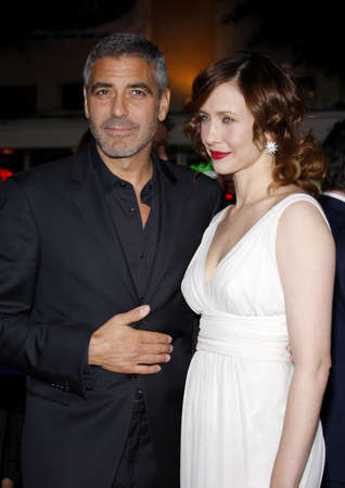 mann: Vera Farmiga and George Clooney at the Los Angeles premiere of Up In The Air held at the Mann Village Theater in Westwood, USA on November 30, 2009.