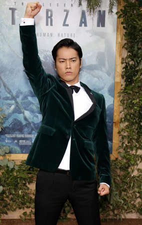 tarzan: Kenta Kiritani at the Los Angeles premiere of The Legend Of Tarzan held at the Dolby Theatre in Hollywood, USA on June 27, 2016.