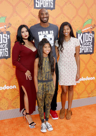 bryant: Kobe Bryant, Vanessa Bryant, Gianna Maria Onore Bryant and Natalia Diamante Bryant at the Nickelodeon Kids' Choice Sports Awards 2016 held at the UCLA's Pauley Pavilion in Westwood, USA on July 14, 2016.