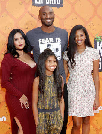 Kobe Bryant, Vanessa Bryant, Gianna Maria Onore Bryant and Natalia Diamante Bryant at the Nickelodeon Kids Choice Sports Awards 2016 held at the UCLAs Pauley Pavilion in Westwood, USA on July 14, 2016.
