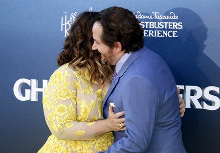 Melissa McCarthy e Ben Falcone alla premiere mondiale di 'Ghostbusters' tenutasi al TCL Chinese Theater di Hollywood, USA il 9 luglio 2016. Archivio Fotografico - 59393077