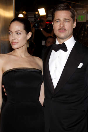 Angelina Jolie and Brad Pitt at the Los Angeles premiere of The Curious Case Of Benjamin Button held at the Manns Village Theater in Westwood, USA on December 8, 2008.