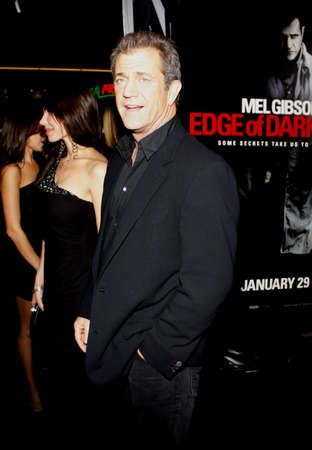 Mel Gibson at the Los Angeles premiere of Edge of Darkness held at the Graumans Chinese Theater in Hollywood, USA on January 26, 2010.