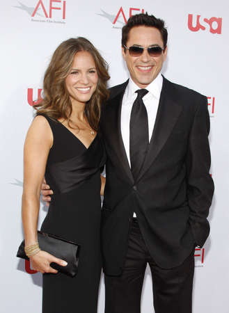 Robert Downey Jr. and wife Susan Downey  at the 36th AFI Life Achievement Award held at the Kodak Theater in Hollywood, California, United States on June 12, 2008.