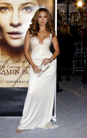 Jennifer Lopez at the Los Angeles premiere of The Curious Case of Benjamin Button held at the Mann Village Theater in Westwood, California, United States on December 8, 2008.