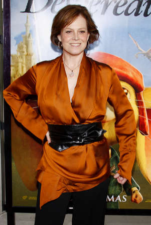 Sigourney Weaver at the World premiere of 'The Tale of Despereaux' held at the ArcLight Theater in Hollywood, USA on December 7, 2008.