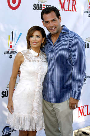 Eva Longoria and Cristian de la Fuente at the 2008 ALMA Awards Nominees Announcement held at the Wisteria Lane, Universal Studios in Hollywood, California, United States on July 21, 2008. Editorial