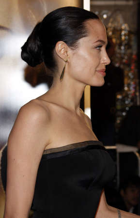 Angelina Jolie at the Los Angeles premiere of The Curious Case Of Benjamin Button held at the Manns Village Theater in Westwood, USA on December 8, 2008.