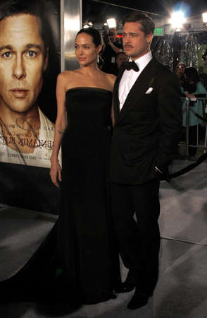 Angelina Jolie and Brad Pitt at the Los Angeles premiere of 'The Curious Case Of Benjamin Button' held at the Mann's Village Theater in Westwood, USA on December 8, 2008.