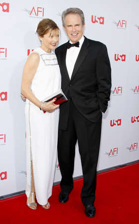 Warren Beatty and Annette Bening at the 36th AFI Life Achievement Award held at the Kodak Theater in Hollywood, California, United States on June 12, 2008.