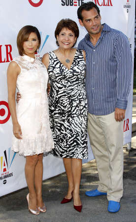 cristian: Eva Longoria Parker, NCLR President Janet Murguia, and Cristian de la Fuente at the 2008 ALMA Awards Nominees Announcement held at the Wisteria Lane, Universal Studios Back Lot in  Hollywood, USA on July 21, 2008. Editorial