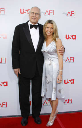 Chevy Chase and wife Jayni at the 36th AFI Life Achievement Award held at the Kodak Theater, Hollywood, USA on June 12, 2008.