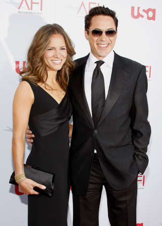 Robert Downey Jr. and Susan Downey at the 36th AFI Life Achievement Award held at the Kodak Theater in Hollywood, California, United States on June 12, 2008. Редакционное
