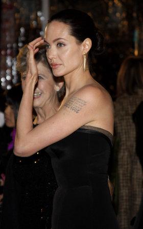 アンジェリーナ ・ ジョリーのベンジャミン バトン ケースさるのロサンゼルス ・ プレミアでは、2008 年 12 月 8 日にウェストウッド、アメリカでマ 報道画像