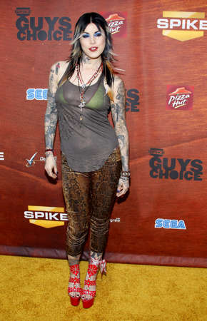 Kat Von D at the Spike TVs 2nd Annual Guys Choice Awards held at the Sony Studios in Culver City, USA on May 30, 2008.