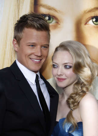 Amanda Seyfried and Chris Egan at the Los Angeles premiere of Letters To Juliet held at the Graumans Chinese Theater in Hollywood, California, United States on May 11, 2010.