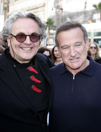 George Miller and Robin Williams at the World premiere of 'Happy Feet' held at the Grauman's Chinese Theatre in Hollywood, USA on November 12, 2006.