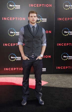 Kellan Lutz at the Los Angeles premiere of Inception held at the Graumans Chinese Theatre in Hollywood, USA on July 13, 2010. Editorial