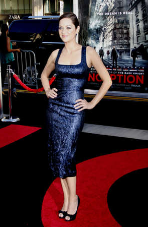 marion: Marion Cotillard at the Los Angeles premiere of Inception held at the Graumans Chinese Theater in Los Angeles, USA on July 13, 2010.