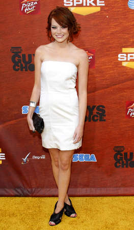 Emma Stone at the Spike TVs 2nd Annual Guys Choice Awards held at the Sony Pictures Studios in Culver City, California, United States on May 30, 2008.