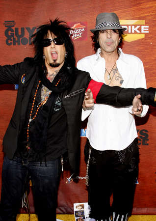 Nikki Sixx and Tommy Lee at the Spike TV 2nd Annual Guys Choice Awards held at the Sony Pictures Studios in Culver City, California, United States on May 30, 2008.