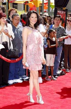 Lucy Liu attends the Los Angeles Premiere of