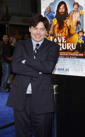 Mike Myers at the Los Angeles premiere of 'Love Guru' held at the Grauman's Chinese Theater in Hollywood, USA on June 11, 2008. Redactioneel