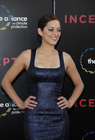 Marion Cotillard at the Los Angeles premiere of Inception held at the Graumans Chinese Theatre in Hollywood, USA on July 13, 2010.
