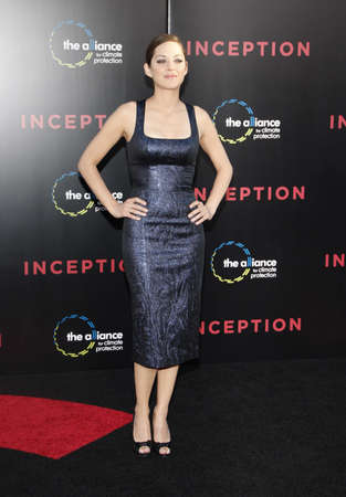 inception: Marion Cotillard at the Los Angeles premiere of Inception held at the Graumans Chinese Theater in Los Angeles, USA on July 13, 2010.