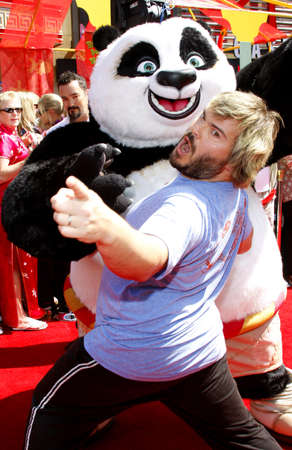 Jack Black at the the Los Angeles premiere of Kung Fu Panda held at the Graumans Chinese Theater in Hollywood, USA on June 1, 2008.
