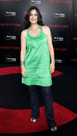 inception: Carrie-Anne Moss at the Los Angeles premiere of Inception held at the Graumans Chinese Theater in Los Angeles, USA on July 13, 2010. Editorial