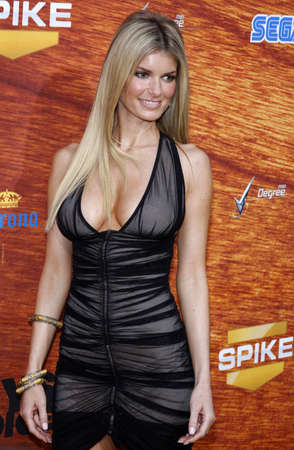 culver city: Marisa Miller at the Spike TVs 2nd Annual Guys Choice Awards held at the Sony Pictures Studios in Culver City, USA on May 30, 2008. Editorial
